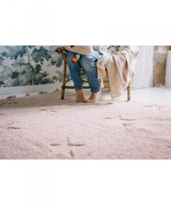 Lorena Canals, dywan bawełniany, hippy stars, nude, 120 x 175cm