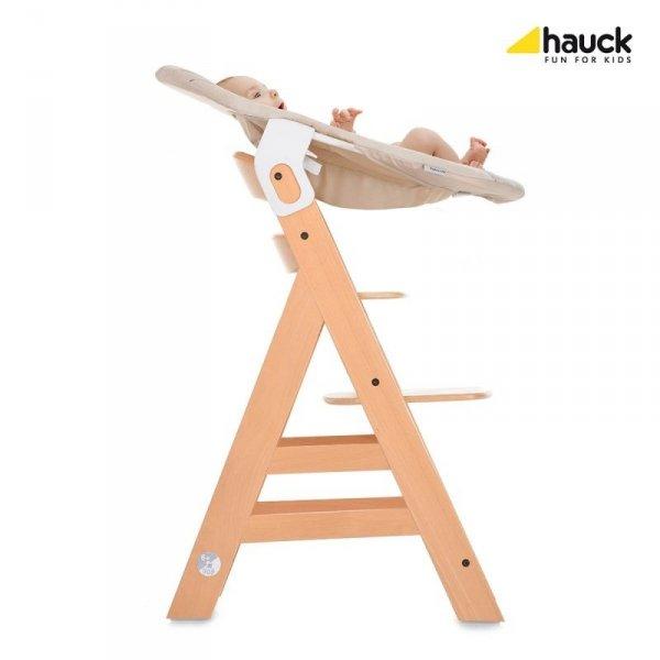 Hauck, leżaczek do krzesełka, Alpha, szary  lub beżowy