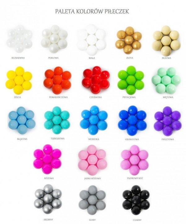 Ajababy, suchy basen 90x30 + 250 piłeczek - różne kolory