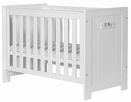 Pinio, łóżeczko 120x60cm, Barcelona, białe,