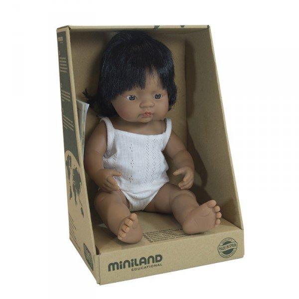 Miniland, lalka dziewczynka, Latynoska, 38cm