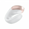 Satisfyer Double Love - wibrator z aplikacją dla par (biały)