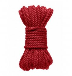 Kink by Doc Johnson Hogtied Bind & Tie 6mm Red Hemp Bondage Rope 30 Feet