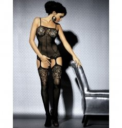 Bodystocking F204 czarne XL/XXL