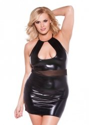 Wet Look Halter Dress