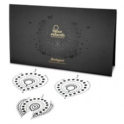 Nakładki na sutki Bijoux Indiscrets - Flamboyant, srebrno-czarne