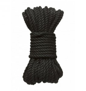 Kink by Doc Johnson - Hogtied Bind & Tie sznur do krępowania 15m x 6mm , czarny