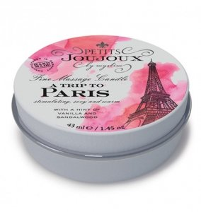 Petits Joujoux Fine Massage Candles A trip to Paris (33 g) - świeca do masażu (wanilia i drzewo sandałowe)