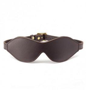 Coco de Mer - skórzna opaska na oczy Leather Blindfold Brown