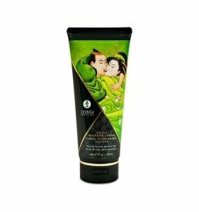 Shunga Pear & Exotic Green Tea Kissable Massage Cream 200 ml - jadalny krem do masażu (gruszka i owoce egzotyczne)