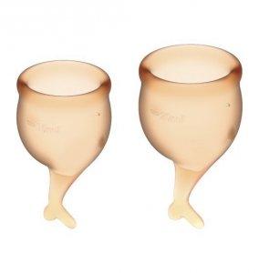 Satisfyer Feel Secure Menstrual Cup Set Orange - zestaw kubeczków menstruacyjnych 2 szt. (pomarańczowy)