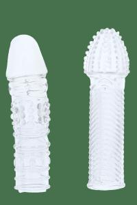 Dream Toys Menzstuff Penis Extender Pack Clear - zestaw nakładek na penisa