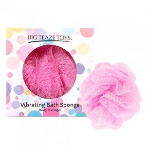 Big Teaze Toys Bath Sponge Vibrating Pink - wibrująca gąbka do kąpieli (różowa)