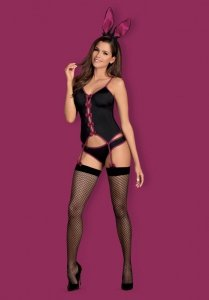Bunny suit kostium czarny  S/M