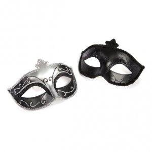 Fifty Shades of Grey - maska na oczy Masquerade Mask, zestaw Twin Pack