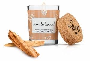 MAGNETIFICO ENJOY IT! Sandalwood - aromatyczna świeczka do masażu (drzewo sandałowe)