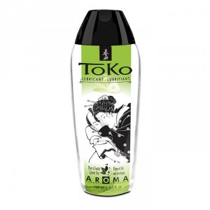 Shunga - Toko Lubricant Pear & Exotic Green Tea 165 ml lubrykant na bazie wody o smaku gruszki i zielonej herbaty