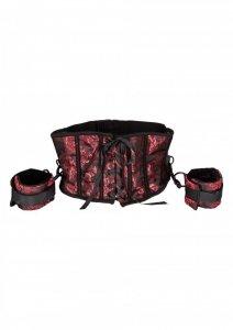 SCANDAL - krótki gorset + kajdanki erotyczne - zestaw (Corset With Cuffs)