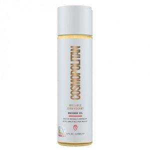 Cosmopolitan Kissable Massage Oil Strawberry 120 ml - olejek do masażu o smaku truskawki