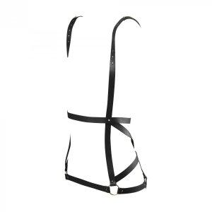 Bijoux Indiscrets MAZE Arrow Dress - uprząż skóropodobna (czarna)