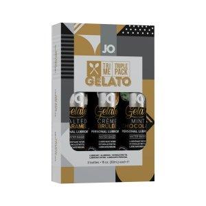 System JO Tri Me Triple Pack Gelato - zestaw lubrykantów smakowych 3x30 ml