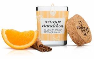 MAGNETIFICO ENJOY IT! Orange&Cinnamon - aromatyczna świeczka do masażu (pomarańcza i cynamon)