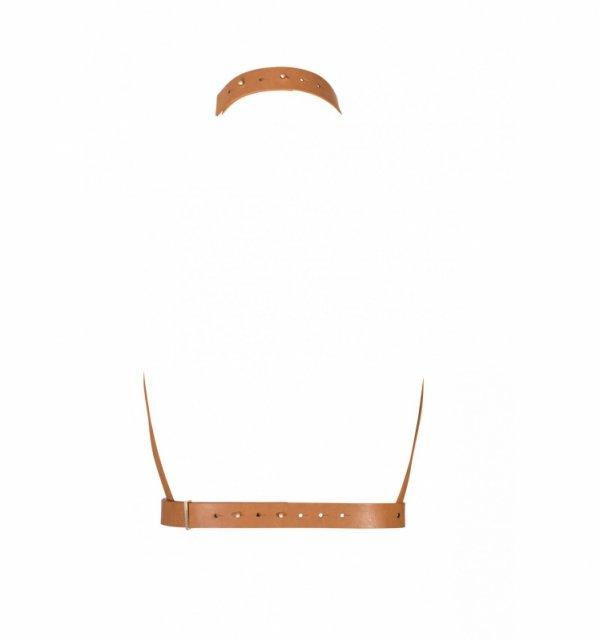 Bijoux Indiscrets MAZE H Harness  - uprząż BDSM skóropodobna (brązowa)
