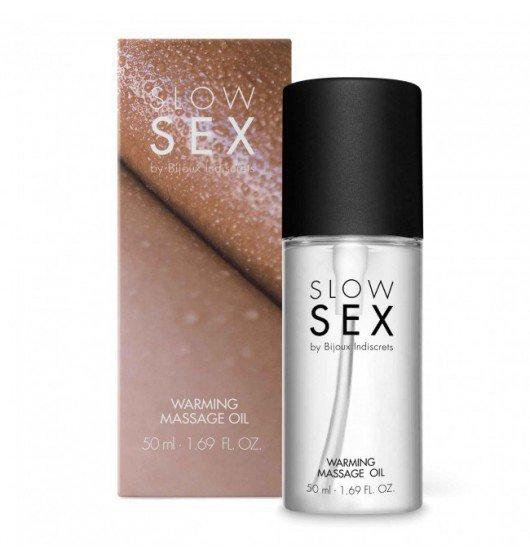 Bijoux Indiscrets Slow Sex Warming Massage Oil - rozgrzewający olejek do masażu