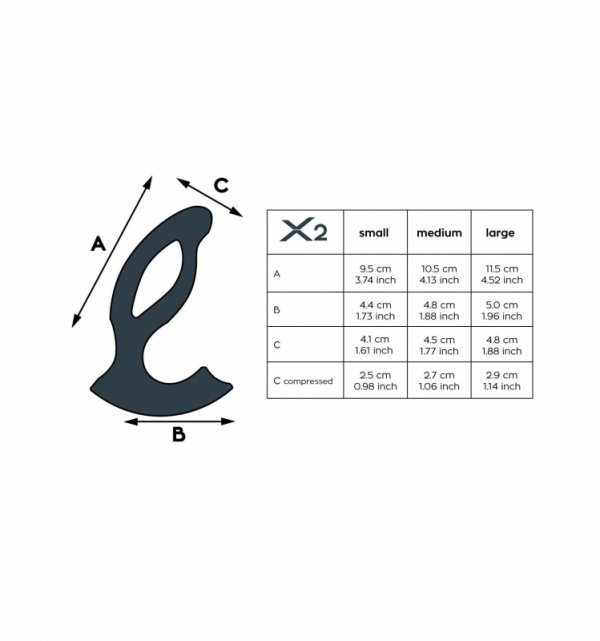 Joy Division XPANDER X2 Medium - Masażer prostaty (czarny)