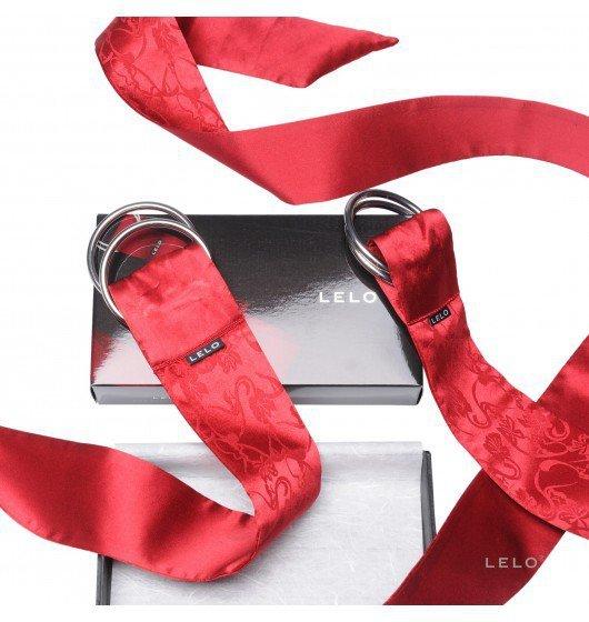 LELO - sex kajdanki szarfy Boa, czerwone