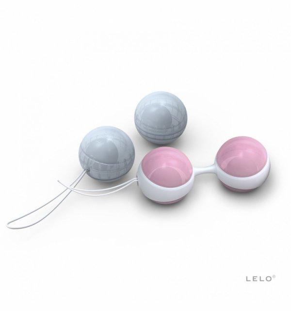 Kulki gejszy LELO - Luna Beads Mini (jasnoróżowe/jasnoniebieskie)