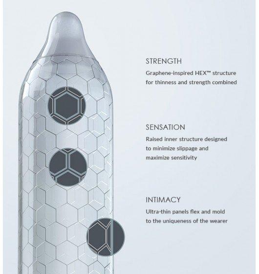 LELO - HEX Original prezerwatywy lateksowe (3 sztuki)