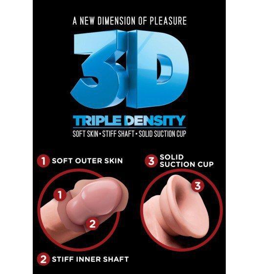 King Cock dildo - Plus 5'' Triple Density Cock with Balls sztuczny penis (cielisty)
