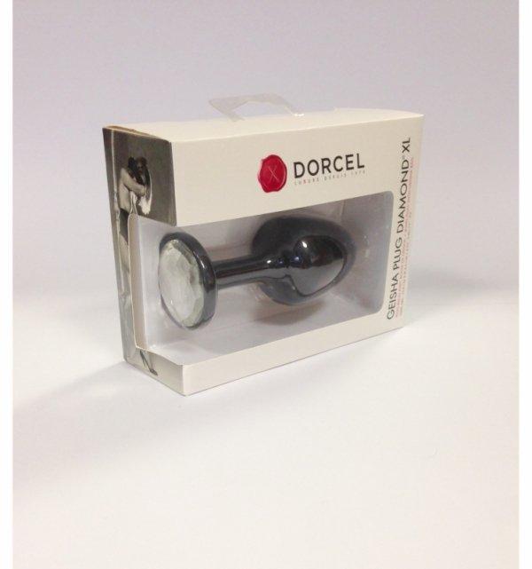 MARC DORCEL korek analny - Geisha Plug Diamond XL (czarny z diamentem)
