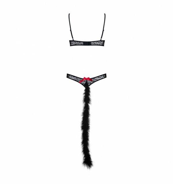 Obsessive Gepardina kostium S/M (czarny)