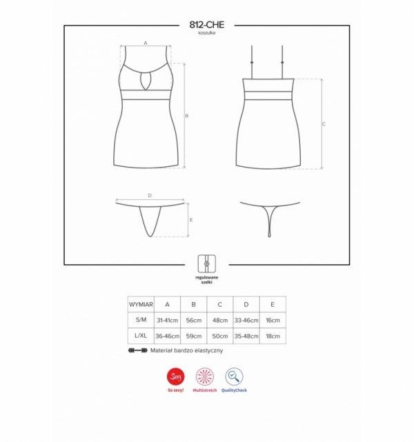 Obsessive 812-CHE koszulka czarna S/M