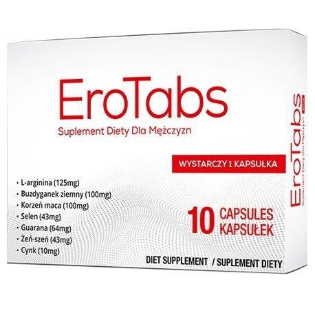 EroTabs 10 kapsułek (tabletek) na silniejszy orgazm u mężczyzn
