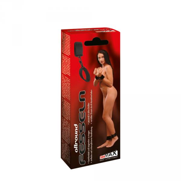 Kajdany BDSM SexMAX allroundFESSELN (black)