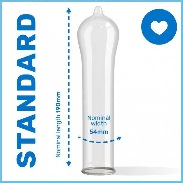 Pasante Regular - Prezerwatywy dopasowujące kształt (1op./3szt.)