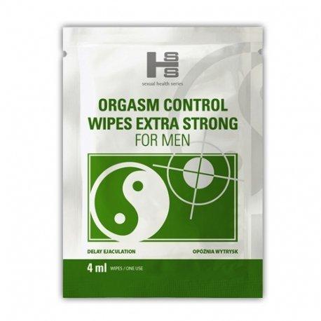 Orgasm Control Wipes 6 sztuk - chusteczki opóźniające wytrysk