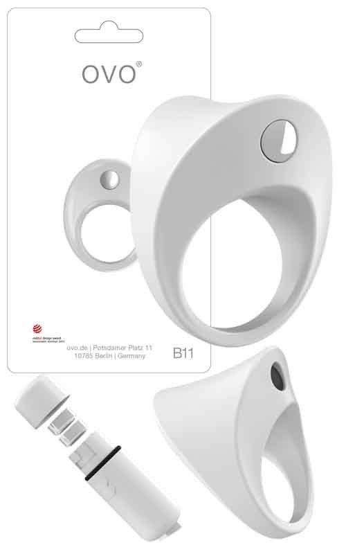 Pierścień erekcyjny Ovo B11 Vibrating Ring White