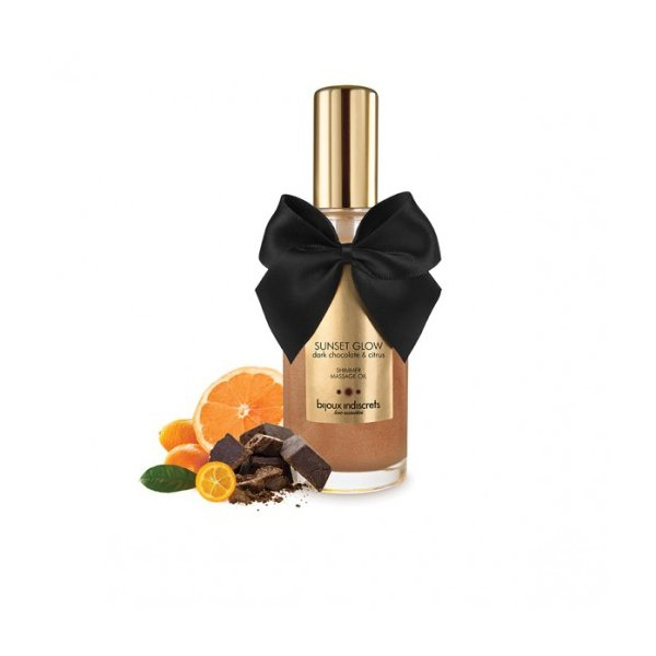 Olejek do masażu SUNSET GLOW - Dark Chocolate Shimmer Oil