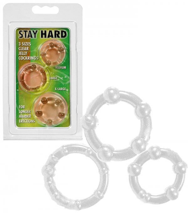 Get Hard - Three Rings - Clear