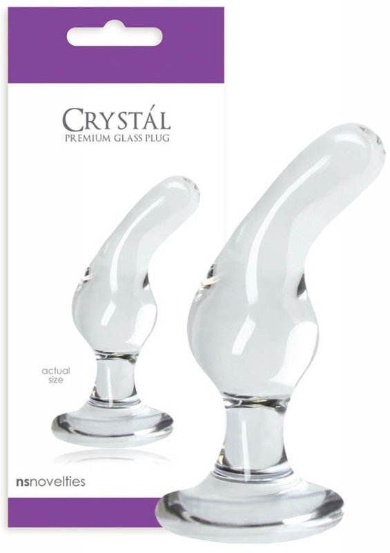 NS Novelties Crystal Glass Plug Clear