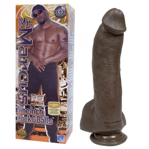 Mr. Marcus Nine Inch Cock and Balls Black