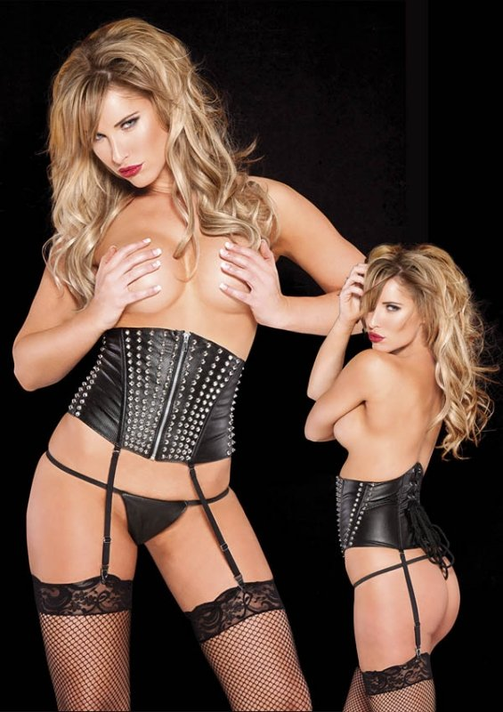 Faux Leather Cincher Black S/L