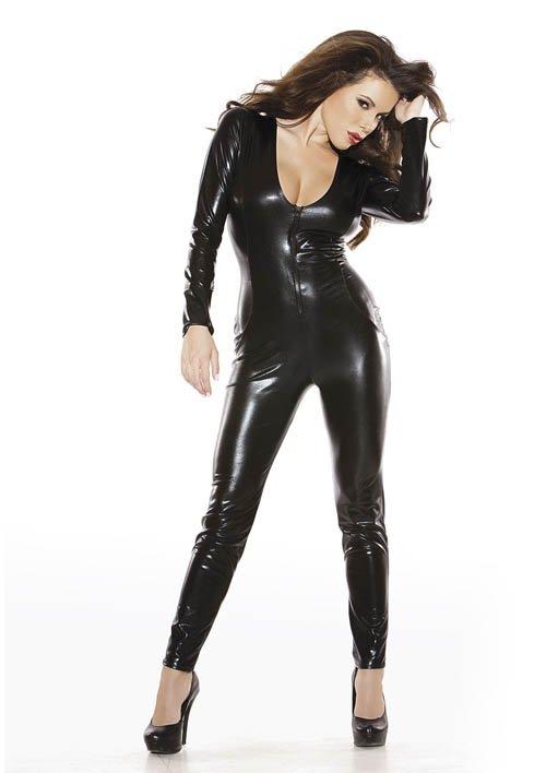 Catsuit Kitten Black S/L