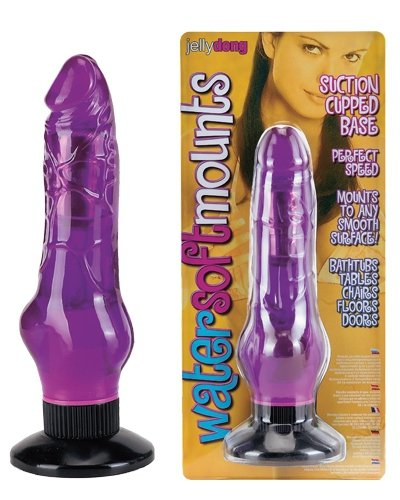 Water Soft Mounts Vibrator Purple