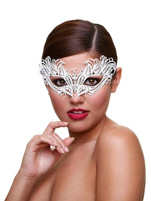 Metal Venetian Masque - Snow Queen