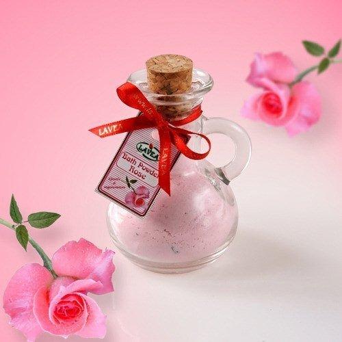 Puder do kąpieli róża z płatkami - regenerujący 100g